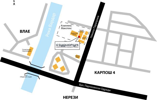 Локација на ЦРИС Студиорум